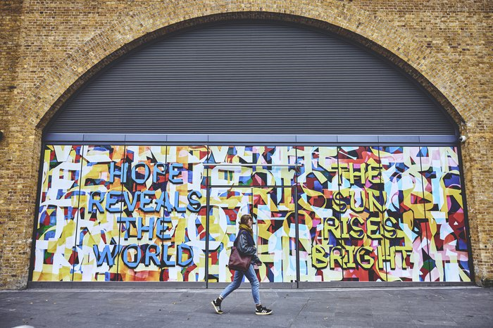 Hope Reveals the World by Mark Titchner